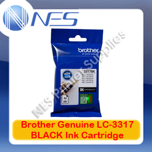 Brother Genuine LC-3317BK BLACK Ink Cartridge for MFC-J5330DW/MFC-J5730DW/MFC-J6530DW/MFC-J6730DW/MFC-J6930DW (550 Pages)